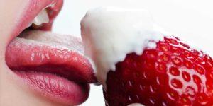 beso fresa - sexo oral